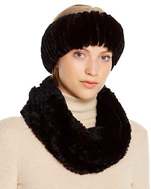 Maximilian Furs Rabbit Fur Infinity Scarf & Headband - 100% Exclusive