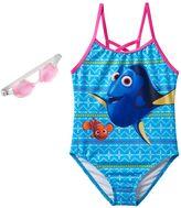 Disney Pixar Finding Dory & Nemo Girls 4-6x One-Piece Swimsuit