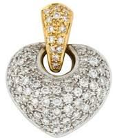 18K Diamond Pavé Heart Pendant