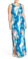 Tart Plus Size Women's 'Byrdie' Print Racerback Maxi Dress