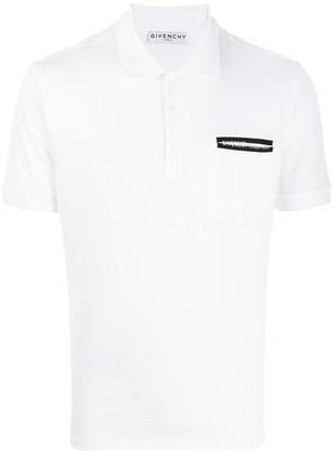 Givenchy Split Logo Print Polo Shirt