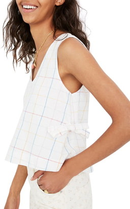 Madewell Windowpane Side Tie Tank Top