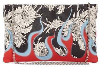 Prada Print Calfskin Clutch