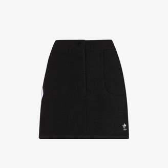 adidas 3-Stripe Fleece Mini Skirt