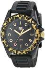 juicy couture womens 1901161 juicy sport analog display quartz black watch