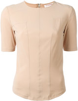 A.F.Vandevorst back zip T-shirt - women - Polyamide/Spandex/Elastane - 34