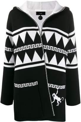 Alanui geometric hooded cardigan