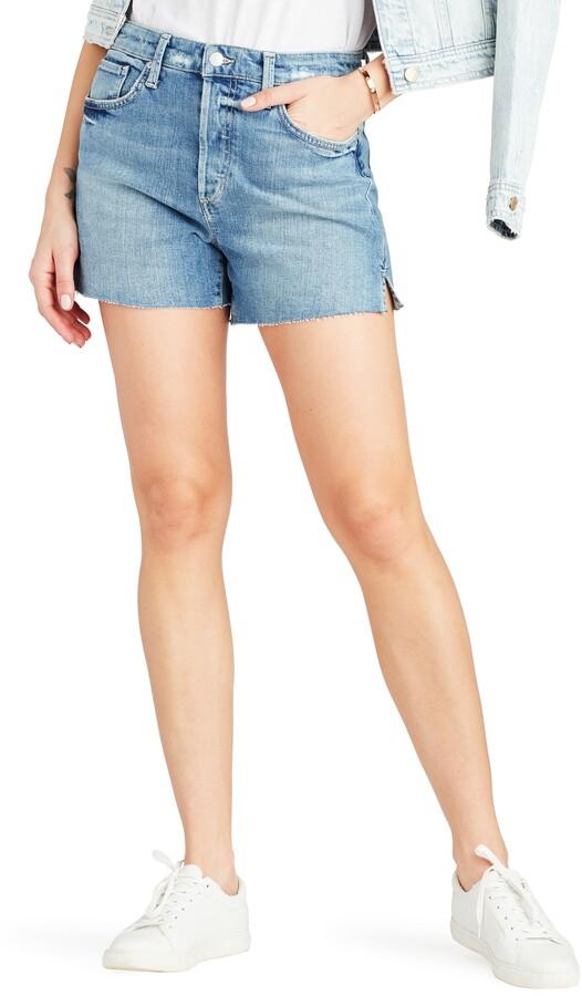 Joe's Jeans Smith High Waist Raw Hem Shorts