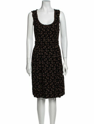 Dolce & Gabbana Scoop Neck Knee-Length Dress Brown