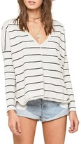 Amuse Society Women's St. Jean Stripe Fleece Pullover