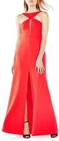 BCBGMAXAZRIA Angie Angular Cutout Gown