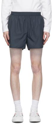 Thom Browne Navy Flyweight Tech 4-Bar Running Shorts