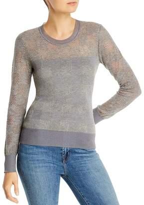 Rag & Bone Charlotte Mixed-Knit Checkered Sweater