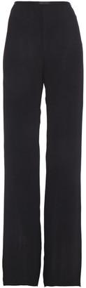 Giorgio Armani Silk Satin-trimmed Crepon Straight-leg Pants