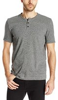 Kenneth Cole New York Kenneth Cole Men's Short Sleeve Stripe Henley