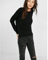 Express lace-up back tunic sweater
