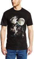 The Mountain 100% Cotton Three Wolf Moon T-Shirt