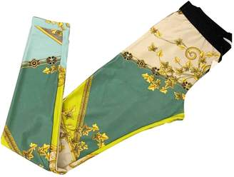 Versace Green Polyester Trousers