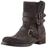 Alberto Fermani Suede Buckled Ankle Boot, Anthracite