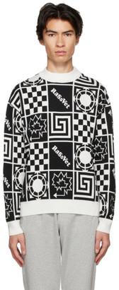 Rassvet White Allover Print Sweater