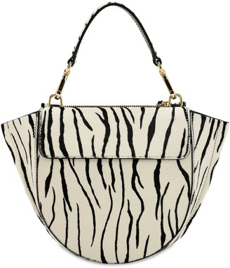 Wandler MINI HORTENSIA PONY PRINTED LEATHER BAG