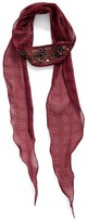 BCBGeneration Embroidered Skinny Scarf