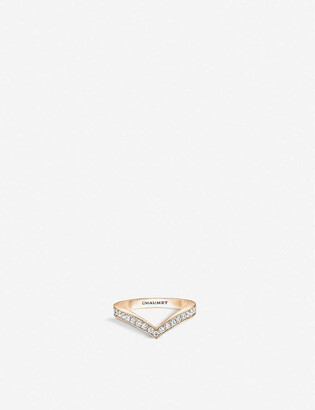 Chaumet Josephine Aigrette 18ct rose-gold and diamond ring