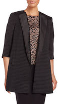 Ivanka Trump Textured Open-Front Blazer