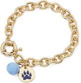 PET FRIENDS Pet Friends Gold-Tone Paw Yarn Ball Bracelet