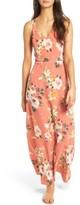 Soprano Women's Floral Strappy Back Maxi Dress