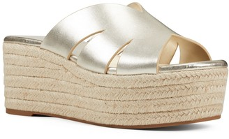 Nine West Eddy Women's Leather Wedge Sandals