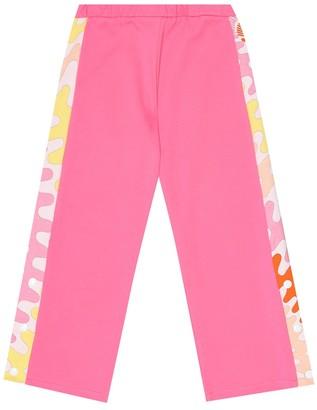 Emilio Pucci Kids Cotton-jersey trackpants