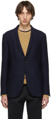 Etro Navy Regular Fit Morbida Blazer