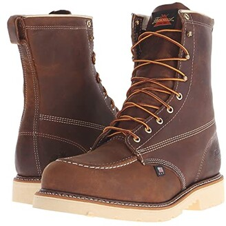 Thorogood American Heritage 8 Steel Toe (Brown Crazy Horse) Men's Work Boots