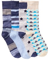 Lucky Brand Assorted Socks - Pack of 4