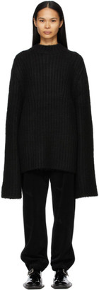 we11done Black Brushed Sweater