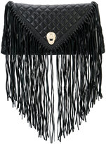 Thomas Wylde fringed quilted clutch - women - Lamb Nubuck Leather - One Size