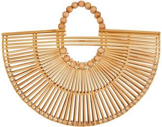 Cult Gaia Fan Ark Bamboo Tote Bag
