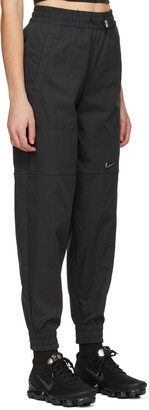 Nike Black Woven Sportswear Swoosh Lounge Pants
