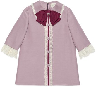 Gucci Children's cotton silk cady dress with bow