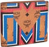 MCM Geometric Print Bifold Wallet, Brown, One Size