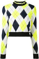 MSGM diamond patterned top - women - Polyester/Viscose - S