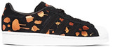 adidas Superstar Metallic Printed Suede Sneakers - Black