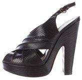 Moschino Embossed Platform Sandals
