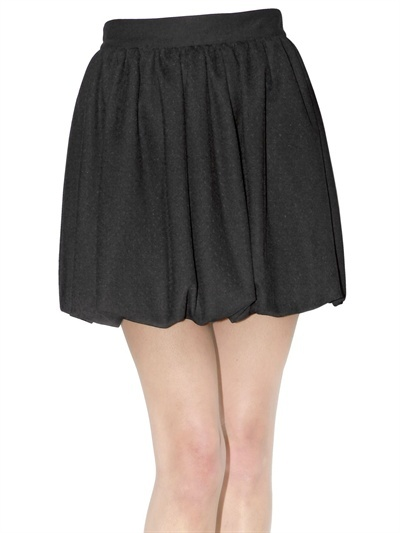 RED Valentino Jersey And Tulle Point D'esprit Skirt