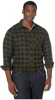 Timberland Woodfort Mid-Weight Flannel Work Shirt - Tall (Forest Night Buffalo Check) Men's Clothing