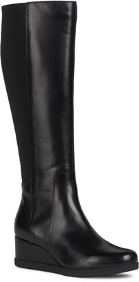 Geox Anylla Knee High Wedge Boot
