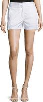 DKNY Mid-Rise Poplin Shorts, White