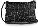 Black 'LOVE' Contrast-Stitch Crossbody Bag