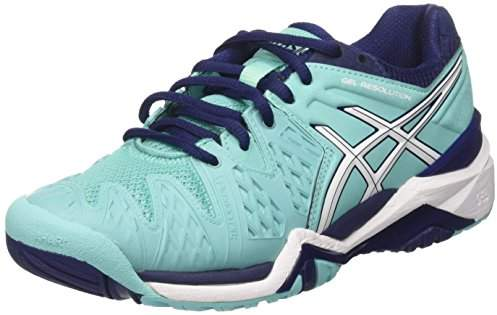 Asics Women's Gel-Resolution 6 Tennis Shoes,37.5 37.5 EU